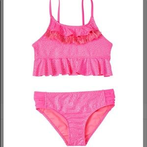 Kensie Girl Pink Ruffle Swimsuit *New With Tags
